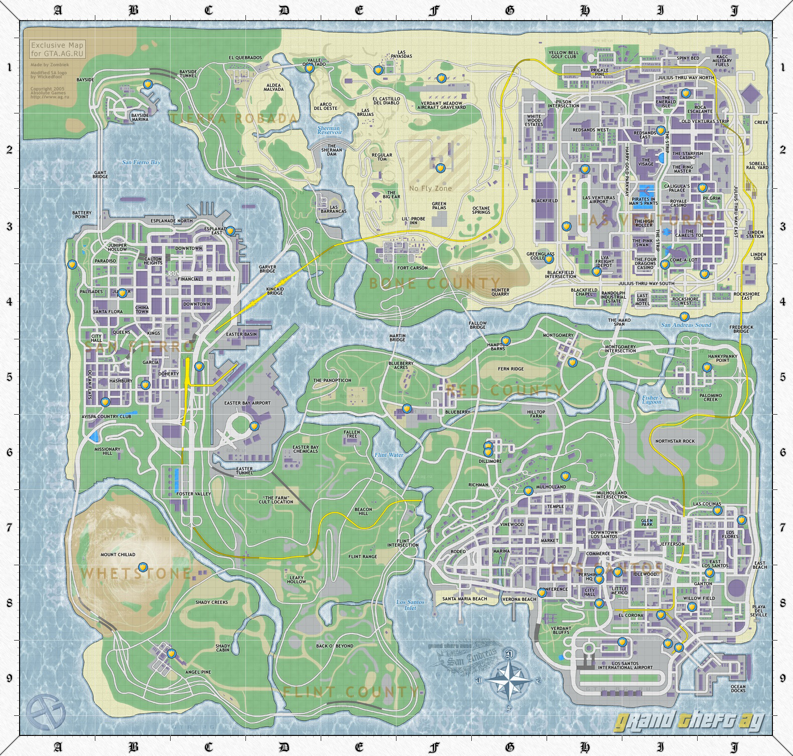 Карты в GTA San Andreas
