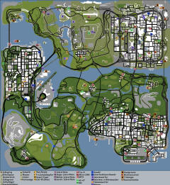 Карта оружия в GTA: San Andreas
